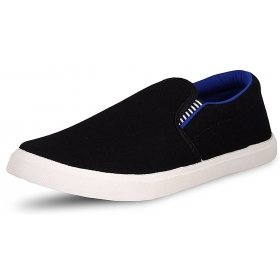 Men's Pilot Blue Black Casual Loafer Shoes