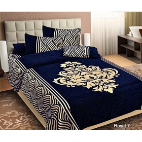 Reliable Trends Chenille Velvet Bedsheet (blue)