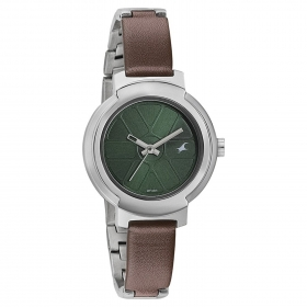 Fastrack Analogue Green Dial Women's Watch -6143sm02