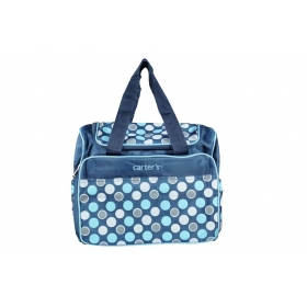 Baby Diaper Changing Bag Printed Mummy Bag Baby Diaper Bag (blue)