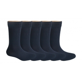 Footmate Socks Kid's Black Uniform Socks ; Age: 9-10 Yr (5 Pair Pack)