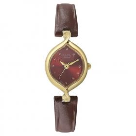 Titan Raga Red Dial Analog Watch For Women-2296yl04