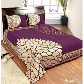 King Size Bedsheet With 2 Pillow Covers,double Bedsheet With Pillow Cover (2 Pillow Covers