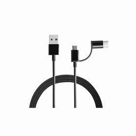 Mi 2-in-1 Usb Cable Black (type C 100 Cm)