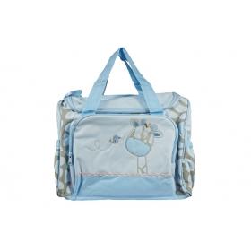Generic Multifunctional Baby Diaper Nappy Changing Bag Mummy Handbag Zebra Pattern (blue)
