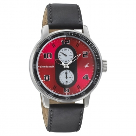 Fastrack Men's Analogue Red Dial Watch - 3159sl01