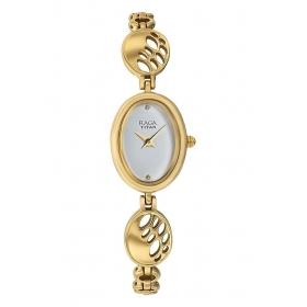 Titan Raga Women Metal Regular White Watches-2511ym07