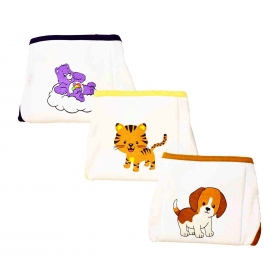 Cloth Padded Reusable Nappy, 2-4 Months (pack Of 3, Sn 100 Size S)