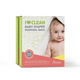Baby Diapers And Sanitary Disposal Bag - 15 Pieces (pack Of 2)