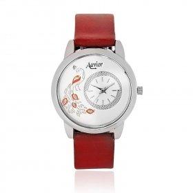 Aavior Women's Analog White Dial Wrist Watch-aa-1082