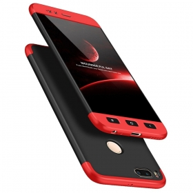 Double Dip Full 360 Protection Back Case Cover For Xiaomi Mi A1 - Red , Black