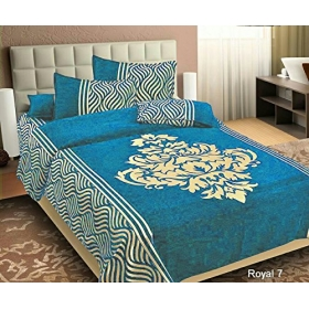 Chenille Bed Cover (premium Chenille Bedsheet With 2 Pillow Covers)
