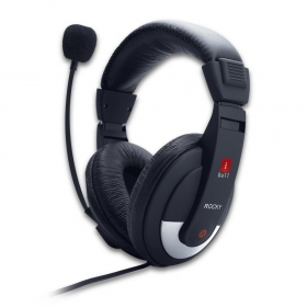 Iball Rocky Over Ear Wired Headphones With Mic Black