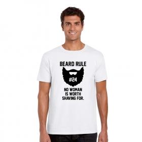 No Woman Is Worth Shaving For Beard Mens T-shirt Cotton Half Sleeves
