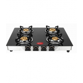 Pigeon Sterling Ultra 4 Burner Glass Manual Gas Stove