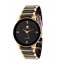 New Stylish Gold Metal Iik Analog Men's Watch