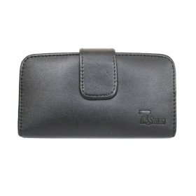 Horizontal Leather Carry Case For Samsung Galaxy E7 Mobile Cover Pouch Premium Holder Black