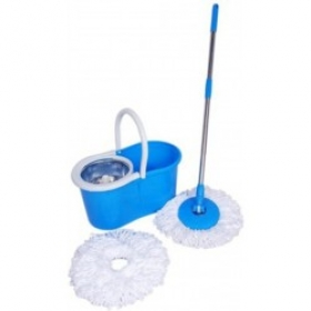 Cleaning Spin Mop Steel Mop Set (color May Very)