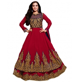 Red Color Suit With Bottom And Dupatta