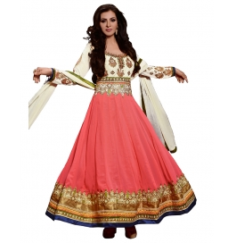 Dusty Pink Color Suit With Bottom And Dupatta