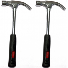Ketsy 704 (set Of 2 Pieces) 1/2 Lb Steel Shaft Curved Claw Hammer