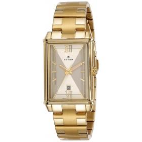 Titan Regalia Rome Analog Champagne Dial Men's Watch-1720ym01