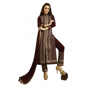Maroon Sherwani Dress Material