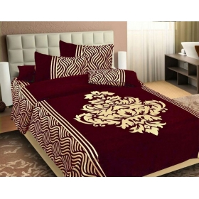 Premium Chenille 1 King Size Bedsheet With 2 Pillow Cover, Size -bedsheet