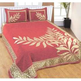 Bedsheets For Double Bed Cotton(premium Chenille 1 Double Bedsheet With 2 Pillow Cover