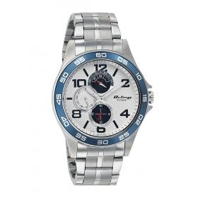 Titan Analog White Dial Men's Watch - 1702km01