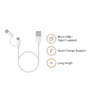 Mi 2 In 1 Usb Cable 30cm