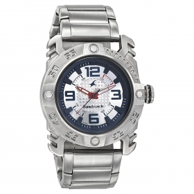 Fastrack Analog Silver Dial Men's Watch-3148sm01