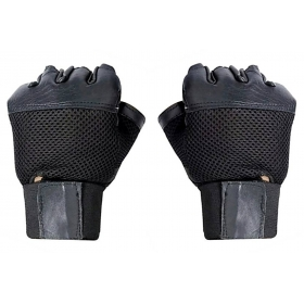 Netted Wrist Support Gym & Fitness Gloves (black)