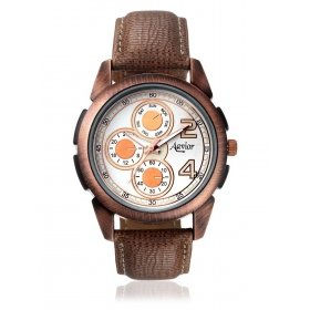 Avior Men's Analog White Dial Day And Date Pattern Wrist Watch-aa-121