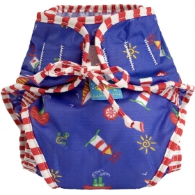 Reusable Swim Diaper Sailboats Size Medium
