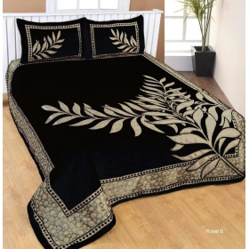 Double Bedsheet With 2 Pillow Cover, Black