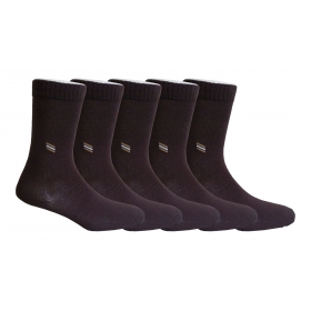 Footmate Socks Men's Brown Formal Scoks (5 Pair Pack)