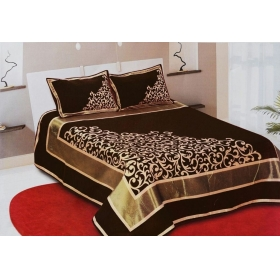 Bombay Bedsheet(premium Chenille 1 Double Bedsheet With 2 Pillow Cover