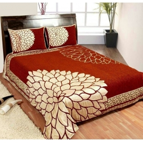 King Size Bedsheets(premium Chenille 1 Double Bedsheet With 2 Pillow Cover