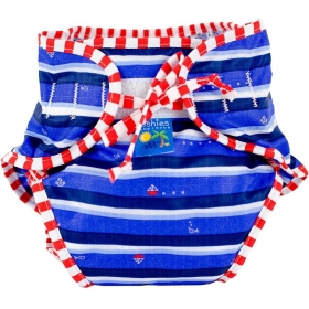 Swim Diaper, Blue Ahoy Print Large