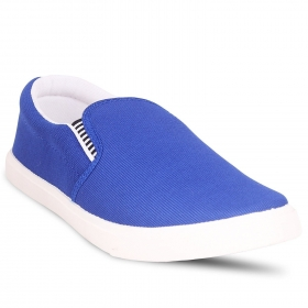 Royal Blue & White Loafers Shoes
