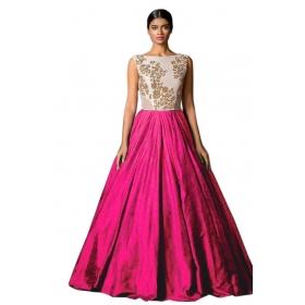 Designer Pink Sillk Gown