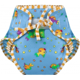Swim Diaper Goldfish Print Medium