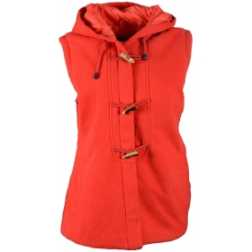 Industries Women's Button Front Jacket ( Red )
