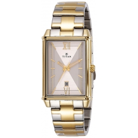 Titan Regalia Rome Analog Champagne Dial Men's Watch-1720bm01