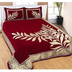 Bedsheets For Double Bed(premium Chenille 1 Double Bedsheet With 2 Pillow Cover,