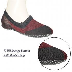 Footmate Unisex Anti Slip Slipper Socks; 12mm Sponge Bottom With Rubber Grip