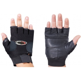Leather Fitness /gym Gloves (black)