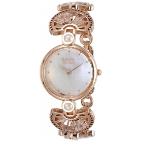 Titan Raga Aurora Analog White Dial Women's Watch-2567wm01