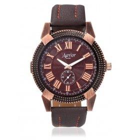 Aavior Men's Analog Blue Dial Chronograph Pattern Wrist Watch-aa-118